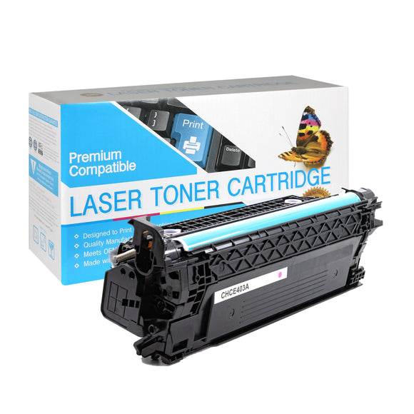 Compatible HP CE403A Magenta Toner Cartridge (507A) - Brooklyn Toner