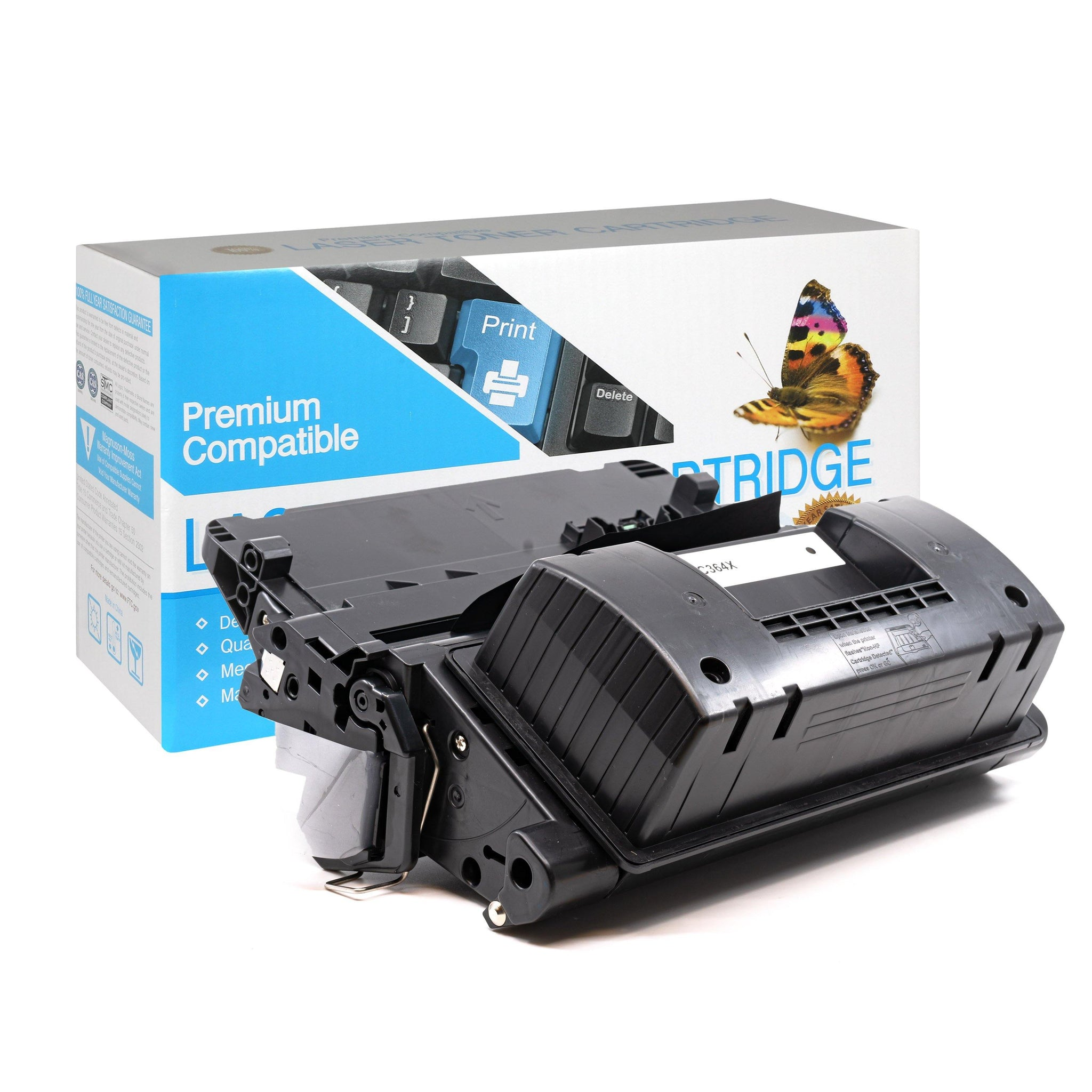 CC364X High Capacity Black Toner Cartridge compatible with the HP (HP64X)
