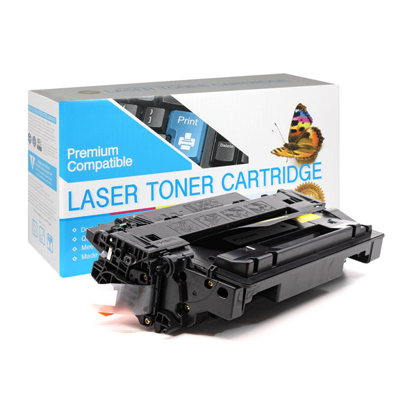 Compatible HP CE255A Black Toner Cartridge  (HP 55A) - Brooklyn Toner