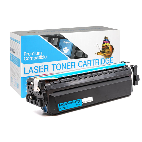 Compatible HP  CF411X  Cyan High Yield Toner Cartridge (HP 411X) - Brooklyn Toner