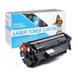 Compatible HP Q2612A Black Toner Cartridge (HP 12A) - Brooklyn Toner