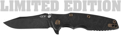 Zero Tolerance Limited Edition 0392BWBRZ Folding Knife - Designed by Rick Hinderer - READ THE SALE NOTES - US AND CANADA ONLY