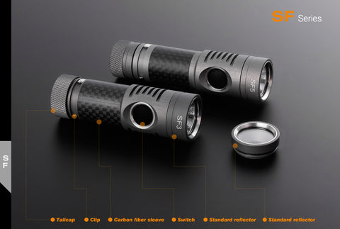 Spark SF5-CW 1 x AA/14500 CREE XM-L2 Cool White 280 Lumen LED Flashlight