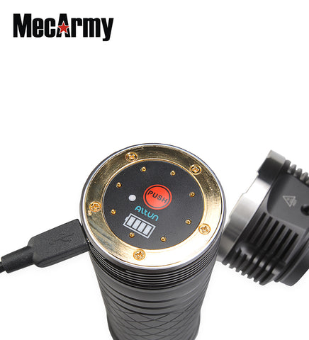 MecArmy PT80 8 X 18650 9600 Lumen Rechargeable Flashlight CREE XP-G2 S4 LED
