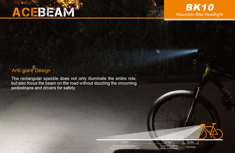 Acebeam BK10 2,000 Lumen Wide Angle Micro-USB Rechargeable Bicycle Light 1 x 21700 Battery