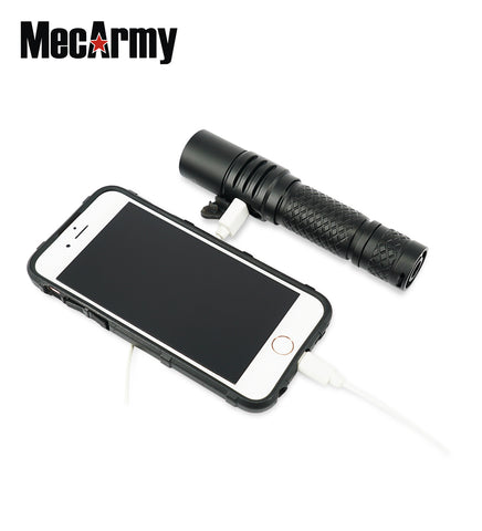 MecArmy MOT10 1000 Lumen CREE XPL-HI V3 LED USB Rechargeable Flashlight and Powerbank