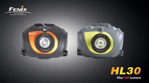 Fenix HL30 CREE XP-G R5 / Dual Color 2 x AA Headlamp - Orange
