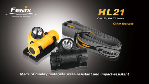 Fenix HL21 90 Lumen AA Headlamp - Black