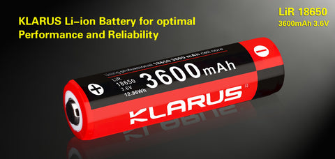 Klarus Protected 18650 3600 mAh Lithium ion 3.6v Battery