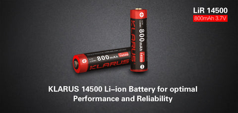 Klarus Protected 800 mAh 14500 Lithium Ion Battery (AA Battery)