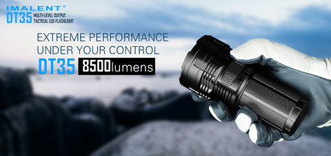 Imalent DT35 8500 Lumen 4 x 18650 CREE XHP35 LED Flashlight