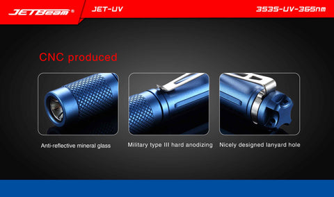 Jetbeam JET-UV 3535-UV-365nm LED Flashlight