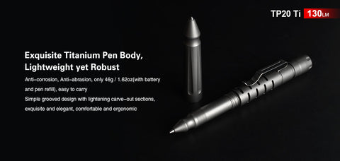 Klarus TP20 Ti Pen and Flash Light