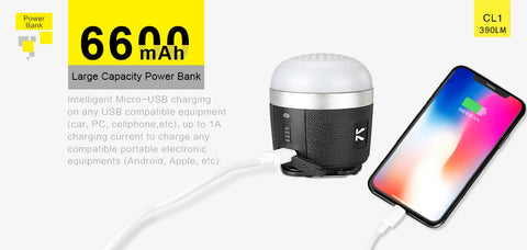 Klarus CL1 390 Lumen Lantern / Bluetooth Speaker