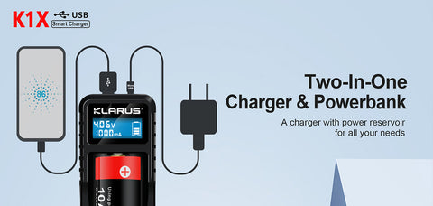 Klarus K1X Smart Charger and Power Bank