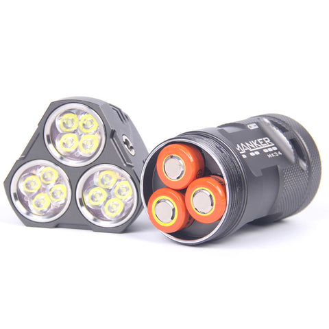 Manker MK34 Bundle 3 x 18650 6500 Lumen Nichia 219C LED Flashlight