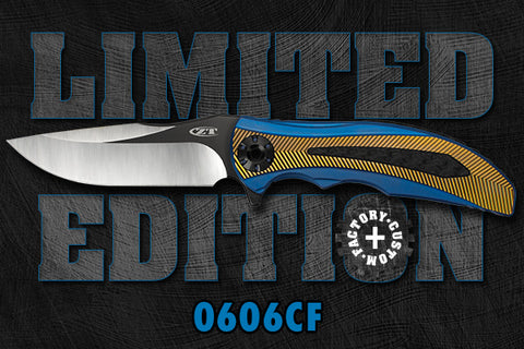 Zero Tolerance 0606CF Martin Designed Limited Edition Folding Knife READ NOTES