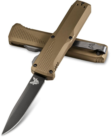 Benchmade 4600DLC-1 Phaeton Out The Front Knife (3.45 Inch Blade)