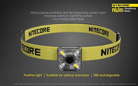 Nitecore NU05 35 Lumen USB Rechargeable Headlamp - Kit