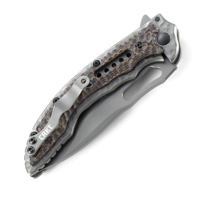 CRKT Fossil Compact Folding Knife with Veff Serrations - Designed by Flavio Ikoma - 5461K
