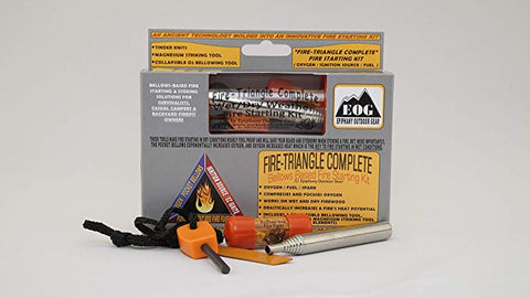 Fire-Triangle Complete Bellows Based 3-Piece Fire Starting Kit