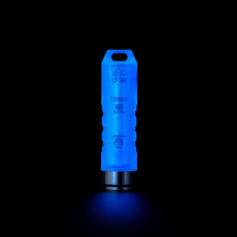 RovyVon A7x 650 Lumen Blue Glow In The Dark Rechargeable Keychain Flashlight CREE XP-G3 LED