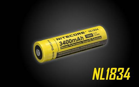 Nitecore NL1834 18650 Rechargeable Battery 3400MAH High Capacity