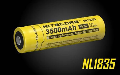 Nitecore NL1835 High Capacity 3500MAH Rechargeable 18650 Battery