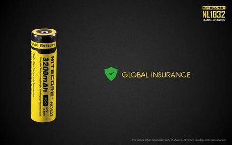 NItecore NL1832 (NL188) 3200MAH 18650 Rechargeable Battery