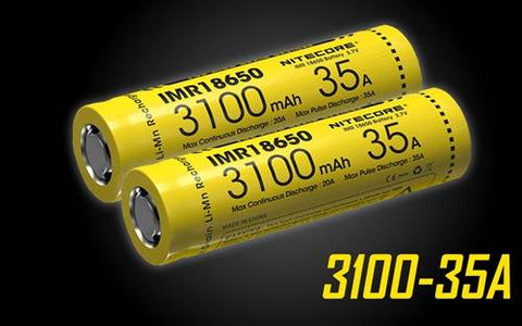 Nitecore IMR 3100 MAH 35A 18650 Rechargeable Batteries For Vaping Devices- 2 Pack