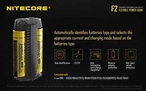 Nitecore F2 Flex Dual-Slot Outdoor Charger