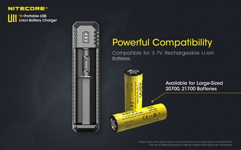 Nitecore UI1 Single-Slot Intelligent USB Lithium-Ion Battery Charger