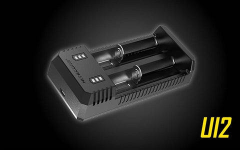 Nitecore U12 Dual-Slot USB Li-Ion Battery Charger