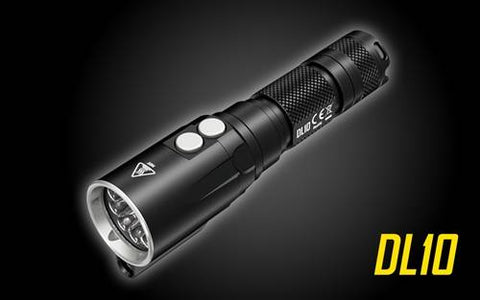 Nitecore DL10 1000 Lumen 1x 18650 2x CR123 CREE XP-L HI V3 Flashlight