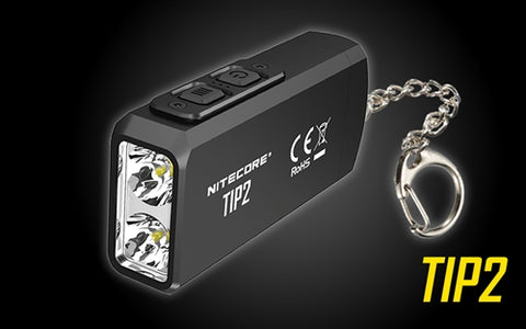 NITECORE TIP 2 720 LUMEN USB RECHARGEABLE KEYCHAIN FLASHLIGHT