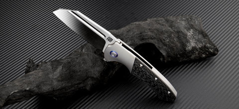 "Artisan Cutlery Mastiff Frame Lock Knife Grey Ti (3.54"" Satin S35VN)"