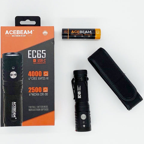 Acebeam EC65 4,000 Lumen USB-C Rechargeable Flashlight XHP 35 Hi LED