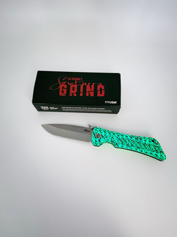 Southern Grind Bad Monkey Drop Point GLOW Series Carbon Fiber 4in Blade w/ 14C-28N Steel