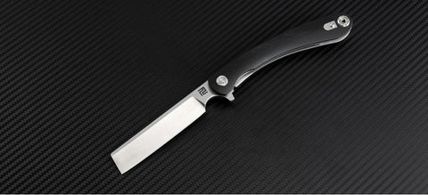 "Artisan Cutlery Orthodox Liner Lock Knife Black G-10 Curve (2.95"" SW D2)"