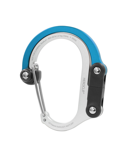 Heroclip Medium Carabiner/Hanger - Supports up to 60 lbs