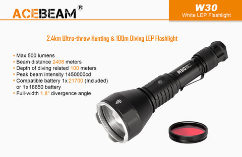 Acebeam W30 Weapon Kit | Weapon Mount + Pressure Switch