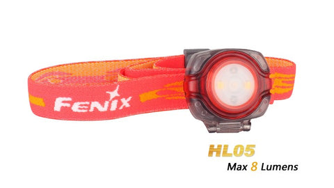 Fenix HL05 2x CR2032 8 Lumens Red/White LED Headlamp