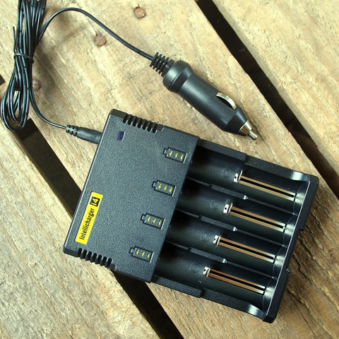NiteCore Intellicharge i2/i4 Car Charger Adapter Plug