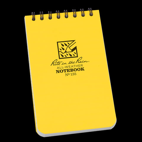 Rite in the Rain 135 Pocket Top Spiral 3 x 5 Notebook Yellow