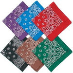 Classic Paisley Cotton Bandana - Dark Red
