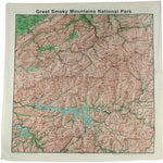 Topographic Map Cotton Bandana - Great Smokey Mountains