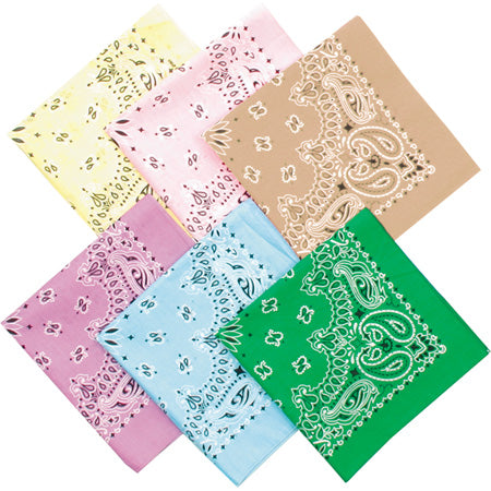 Classic Paisley Cotton Bandana - Light Purple