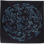 Black Glow in the Dark Star Chart Bandana
