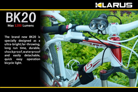Klarus BK20 1200 Lumen Rechargeable Bike Light