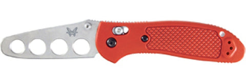 Benchmade Griptilian 551T Folding Knife - Trainer Blade / Red Handle
